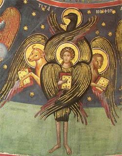Tetramorph. Fresco, Meteora.